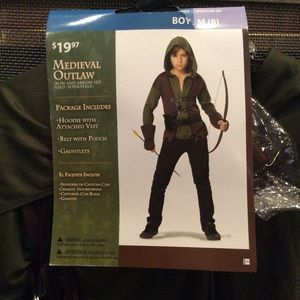 NWT Medieval Outlaw Costume Size Boy 8
